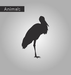 black and white style icon of stork vector image