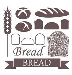 Bread Loaf Icon vector image vector image