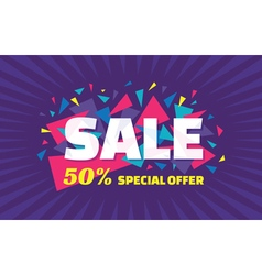 Concept banner special offer big sale vector image