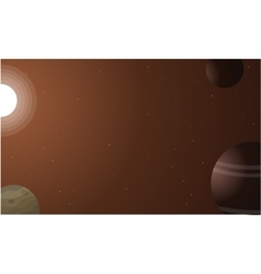 Element space background art vector image
