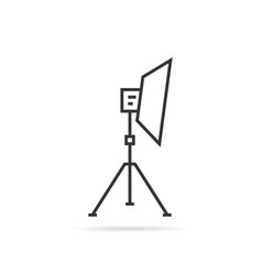 thin line soft box on tripod icon vector image vector image