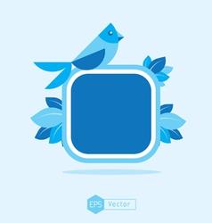Blue Bird Sign vector image vector image