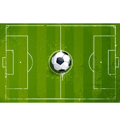 Grunge soccer playing field vector image