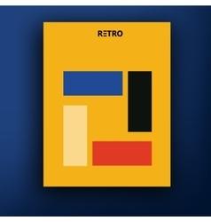 Retro bauhaus de stijl brochure booklet vector