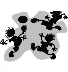 cartoon football vector image vector image