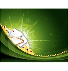 Casino cambling background elements vector image vector image