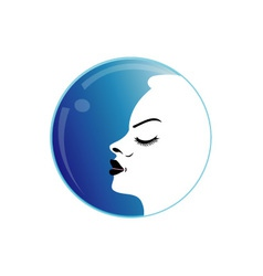 Lady with a pout vector image vector image