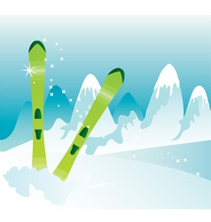 Skis vector