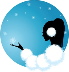 snow lady vector image vector image