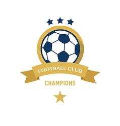 Soccer Football Badge circle and ribbon vector image vector image