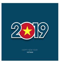 2019 vietnam typography happy new year background vector