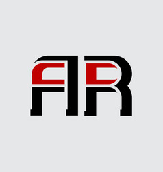 A and r - initials or logo ar - monogram vector