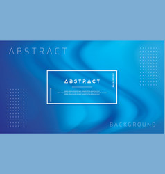 abstract blue wave flow background vector image