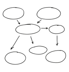 abstract flowchart vector image