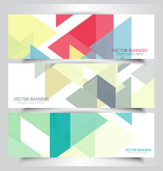abstract geometric banners vector image