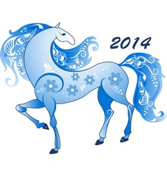 Abstract horse the symbol of 2014 vector image