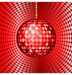 Abstract red disco ball vector