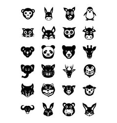 Animal Faces Icons 1 vector