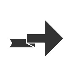 Arrow with folding line glyph icon right turning vector