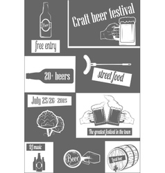 Beer Craft Fest Two-color Vertical Flyer vector image
