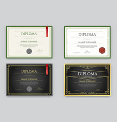 big set of diploma or certificate premium design vector image