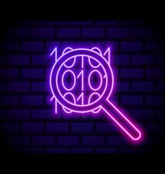 binary code glowing neon icon icon vector image