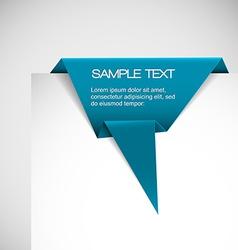 Blue Paper origami ribbon vector