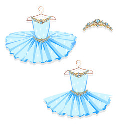 Blue tutu on the hanger vector