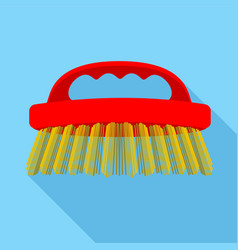 Body brush icon flat style vector