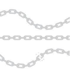 broken torn chain vector image