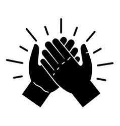 Brotherhood handshake icon simple style vector