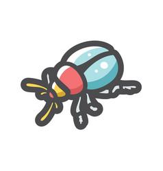 bug beetle dor icon cartoon vector image