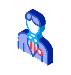 Candidate appearance isometric icon vector