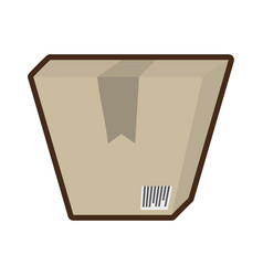 Cardboard box delivery cargo vector