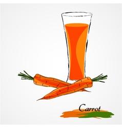 Carrot juice vector