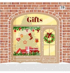 Christmas Gifts shop presents store vector image