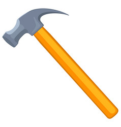 colorful cartoon claw hammer vector image