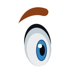 Cute cartoon eye eyebrow emotion look vector