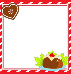 decorated christmas frame new year blank vector image