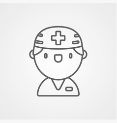 doctor icon sign symbol vector image