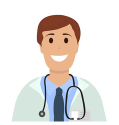 Doctor man in hospital flat design vector