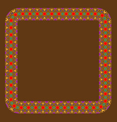 Eastern islamic colorful ornament round rectangle vector