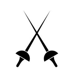 Fencing icon vector
