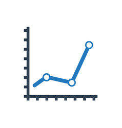 Financial analysis icon vector
