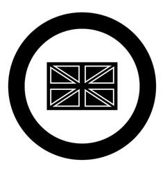 flag united kingdom icon black color in circle vector image