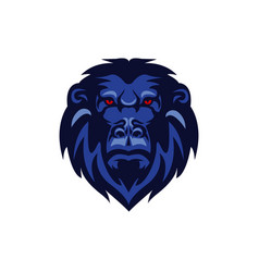 Gorilla colored mascot logo premium image vector