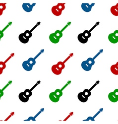 Guitar seamless pattern vector image