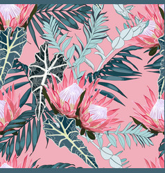 hand drawn tropical summer background vector image
