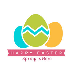 happy easter isolated icon spring event vector image