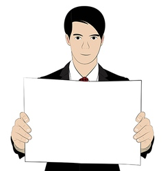 hold paper 2 vector image